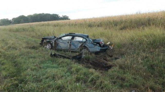 Un médico de Venado Tuerto murió al volcar con su auto en la ruta 8
