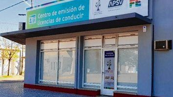 Flamante sede. La nueva repartición del centro de conducir de Sastre.