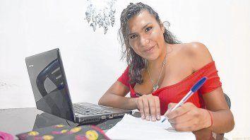 Rubí del Mar Pérez es estudiante de locución en el Instituto Superior Nº 18. También proyecta cursar periodismo.