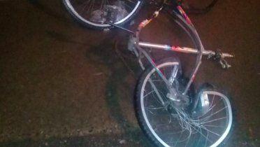 La bicicleta en la que viajaba la víctima. (Foto: SL24)