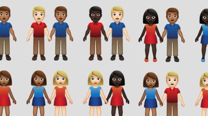 Hay más parejas interraciales.