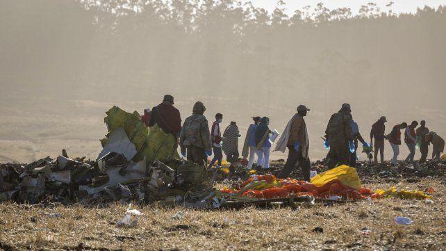 El Boeing 737 se estrelló a los pocos minutos de despegar de la capital etíope.
