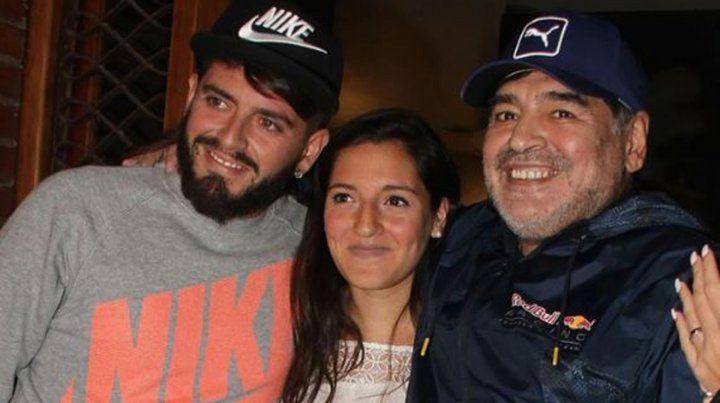 Se conocieron los nombres de los tres hijos de Maradona en Cuba