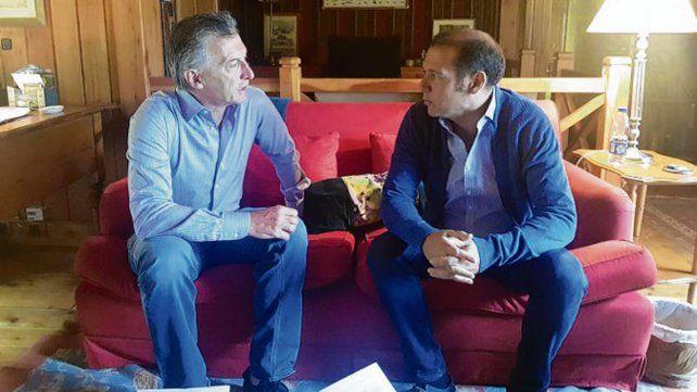De Visita. Macri recibió a Gutiérrez durante sus vacaciones en el Sur.