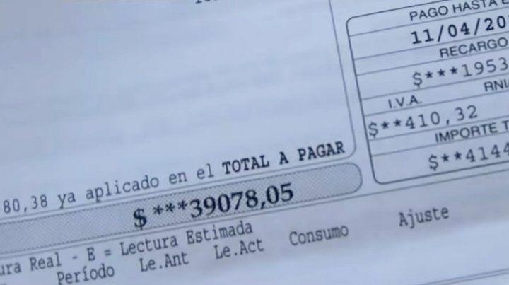 Le llegó una factura de agua de $39.000 aunque no tiene medidor