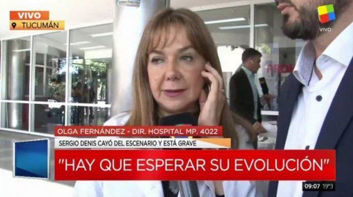 Sergio Denis sigue grave y no es recomendable el traslado a Buenos Aires