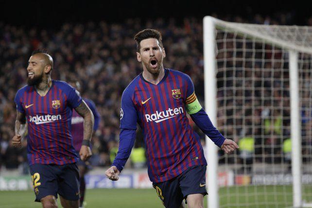 Messi brilló y llevó a Barcelona a los cuartos de final de la Champions