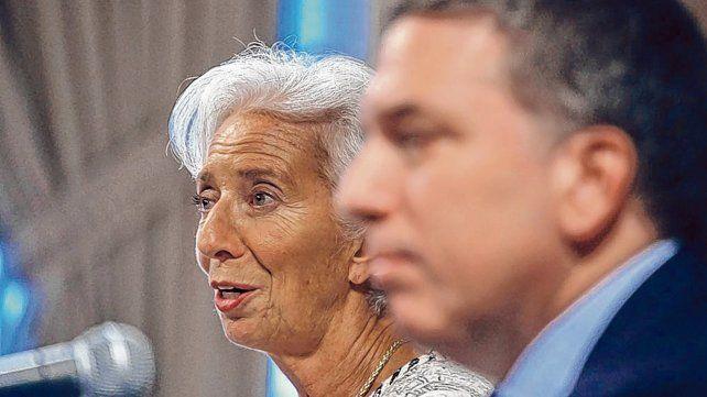 La jefa. Christine Lagarde recibió en Washington a Nicolás Dujovne
