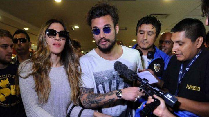 Daniel Osvaldo, con los tapones de punta contra Jimena Barón