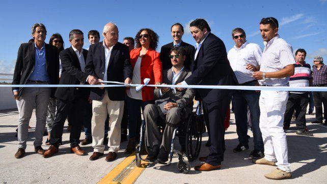 Lifschitz inauguró un estratégico puente sobre el río Carcarañá