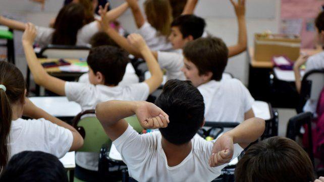 A clases. El lunes regresa la actividad normal en las escuelas mientras continúan las negociaciones paritarias.