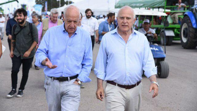 Lavagna y Lifschitz realizaron una visita conjunta en ExpoAgro.