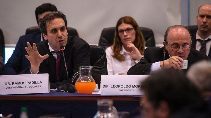 Juez. Ramos Padilla ventiló en el Congreso detalles sobre su investigación de espionaje ilegal.