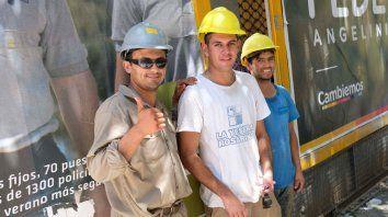 Pobladores. Gran parte de la colectividad paraguaya se desempeña en la construcción.