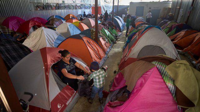Precario. Un refugio para inmigrantes salvadoreños en la fronteriza ciudad de Tijuana.