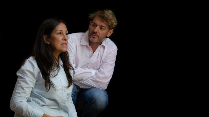 Equipo. Piñero y Tibalt trabajaron sobre las ausencias y la incomunicación.