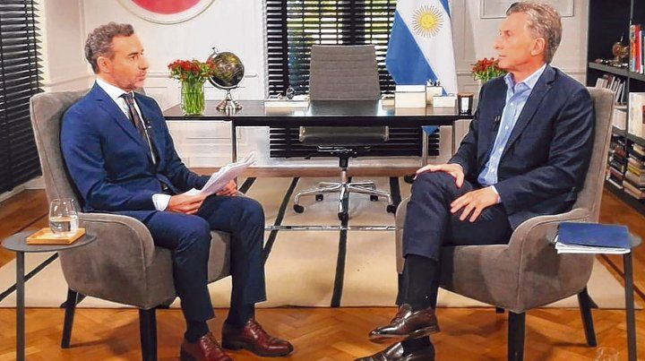 Mano a mano. El presidente dio una entrevista a Luis Majul para el programa La Cornisa. Allí confirmó que quiere ser reelecto.