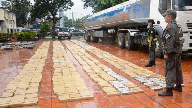 Formosa. El camión fue requisado en un cuartel de Gendarmería.