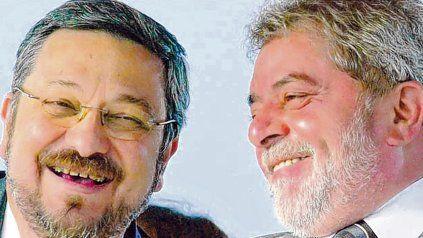 otros tiempos. Palocci y Lula durante el primer gobierno del PT, entre 2003 y 2007.