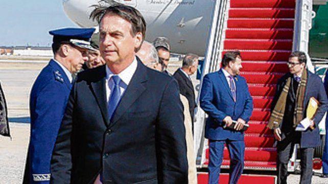llegada. Bolsonaro en Washington.