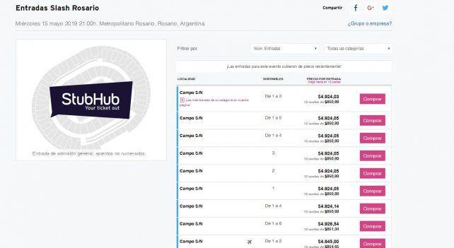 Alerta por reventa engañosa de entradas de recitales en Rosario