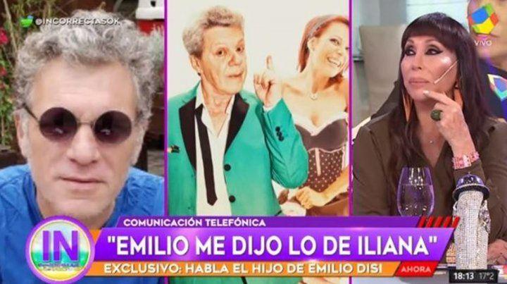 El hijo de Emilio Disi confirmó el amorío de su padre con Iliana Calabró