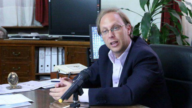 El ministro de Economía de la provincia, Gonzalo Saglione.