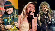 Históricas figuras como Santana y Robert Plant, y artistas que alcanzaron su reconocimiento en los últimos años, como Miley Cyrus destacan en la grilla de la edición especial del Festival Woodstock.