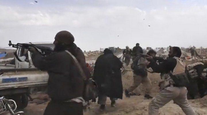 Campamento. Imagen de video divulgada por el mismo grupo terrorista para demostrar que aún resiste.