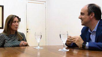 Respaldo. Vidal y Corral hablaron de políticas de seguridad.