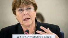 informe. La ex presidenta chilena en su rol en la ONU.