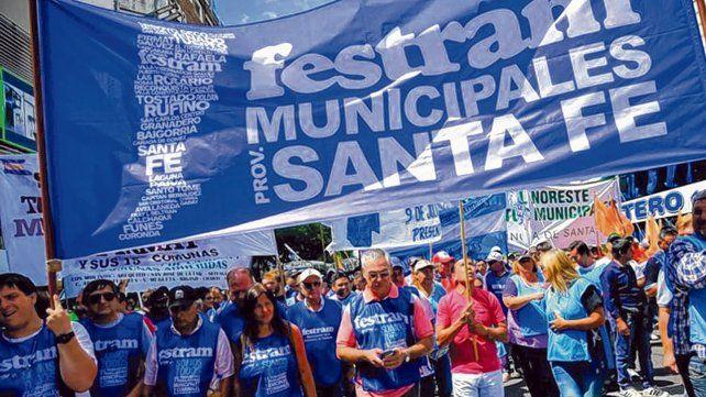 movilización. En Rosario
