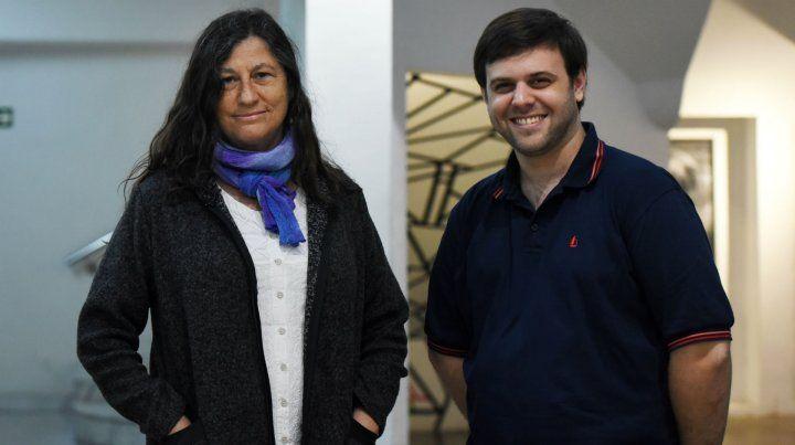 La profesora Beatriz Argiroffo y el profesor Leonardo Simonetta coordinaron la tarea de investigación.