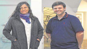 La profesora Beatriz Argiroffo y el profesor Leonardo Simonetto coordinaron la tarea de investigación.