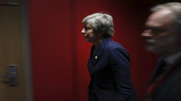 Bruselas. Así se presentó ayer Theresa May en el Consejo Europeo.