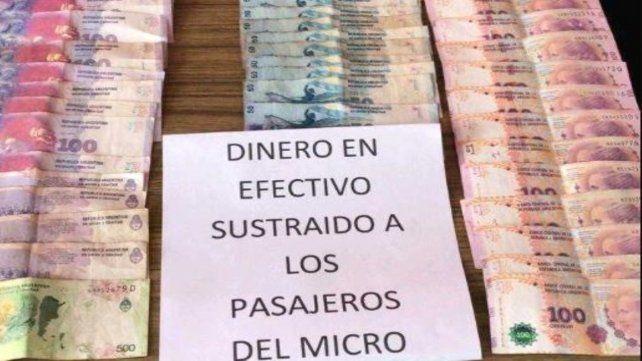 El dinero secuestrado.