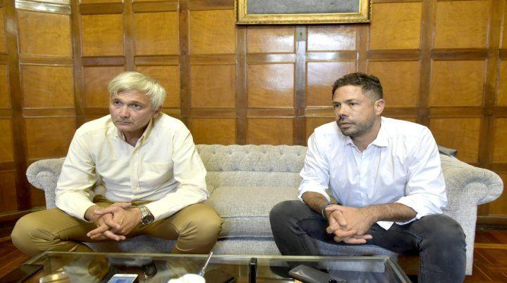 El vicepresidente Ricardo Caroloni y el presidente Rodolfo Di Pollina hablaron a solas con Ovación.