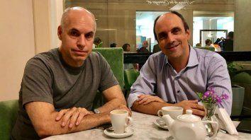 Rodríguez Larreta y Corral hablaron de políticas de cooperación.