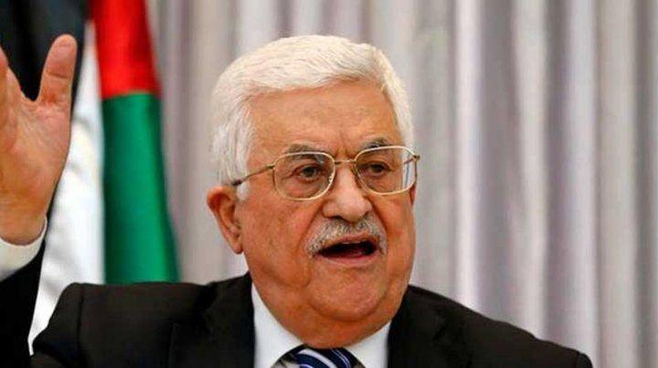 El presidente palestino