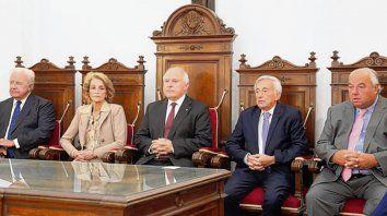 Lifschitz con los ministros de la Corte Suprema