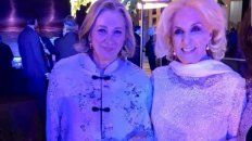 Mirtha fue la invitada de honor a la gala con los reyes de España