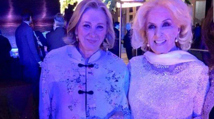 Mirtha Legrand fue la invitada de honor a la gala con los reyes de España