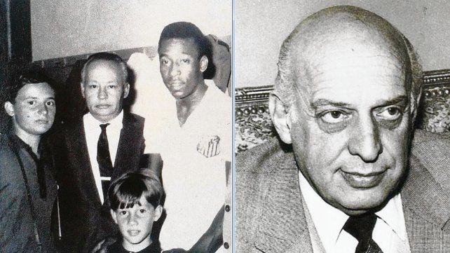 Adolfo Boerio fue artífice del crecimiento de Central durante su presidencia. En la foto junto a Pelé. Armando Botti fue uno de los presidentes con el que Newells alcanzó un desarrollo ejemplar.