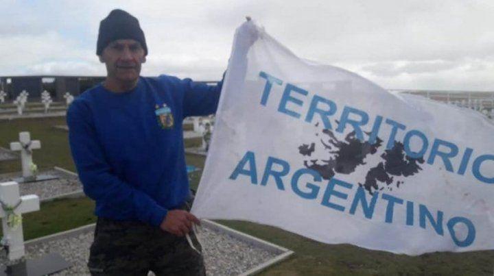 Un exfutbolista y excombatiente fue detenido en Malvinas