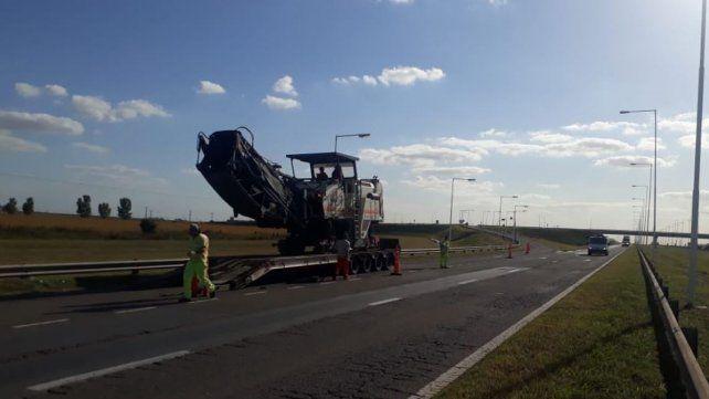 El diputado provincial Federico Angelini publicó en Twitter las fotos del inicio de la obra.