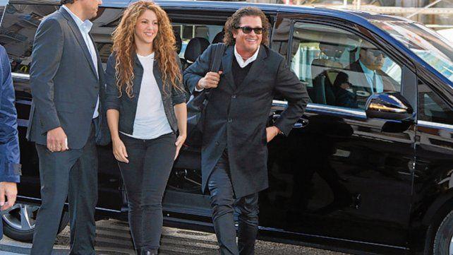Al juzgado. Shakira y Vives en Madrid