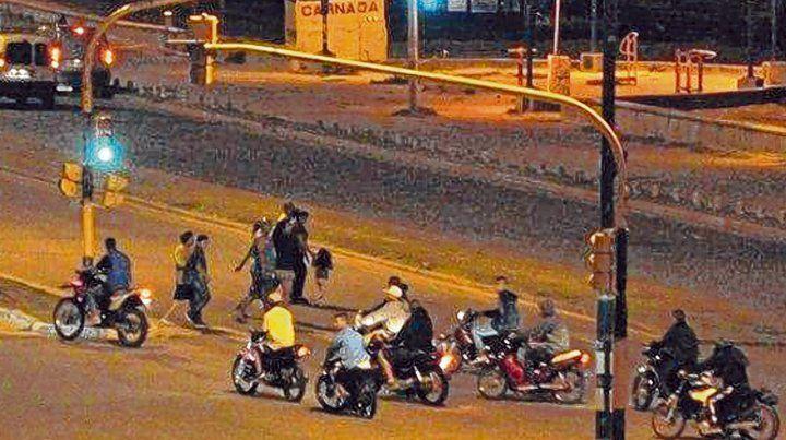 zona norte. Las motos salieron a correr durante la noche