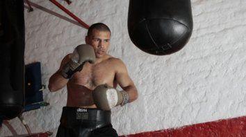 Otros tiempos. Luján en el gimnasio, en 2011, cuando se preparaba para seguir combatiendo.