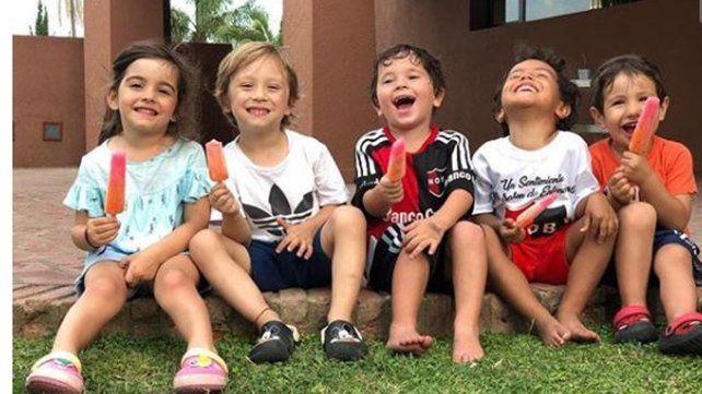 La última vez que Messi estuvo en Rosario, sus hijos aparecieron con camisetas de Newell's.
