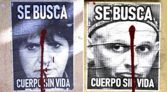 Los afiches aparecieron en la Facultad de Derecho.